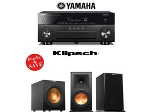 Yamaha AVENTAGE RX-A860BL 7.2 Channel Network AV Receiver + Klipsch RP-160M + Klipsch R-12SW - 2.1 Reference Premiere Package