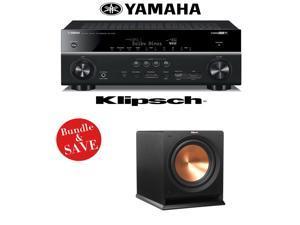 Yamaha RX-V781BL 7.2-Channel 4K A/V Receiver + (1) Klipsch R-112SW Reference Premiere 12-Inch Powered Subwoofer - Bundle