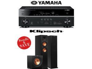 Yamaha RX-V781BL 7.2-Channel 4K A/V Receiver + Klipsch RP-250F + Klipsch R-110SW - 2.1 Reference Premiere Package