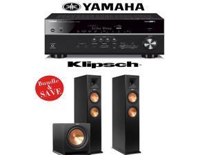Yamaha RX-V681BL 7.2-Channel 4K Network A/V Receiver + Klipsch RP-260F + Klipsch R-112SW - 2.1 Reference Premiere Package