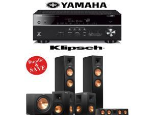Klipsch RP-260F Reference Premiere 5.1 Home Theater System with Yamaha RX-V681BL 7.2-Channel A/V Receiver