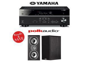 Yamaha RX-V581BL 7.2-Channel Network A/V Receiver + (1) Pair of Polk Audio TSi 200 Bookshelf Loudspeakers - Bundle