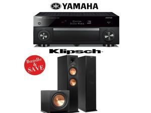 Yamaha RX-A1060BL AVENTAGE 7.2-Channel Dolby Atmos Network A/V Receiver + Klipsch RP-260F + Klipsch R-112SW - 2.1 Reference Premiere Home Theater Package
