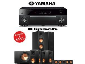 Klipsch RP-250F Reference Premiere 5.1 Home Theater System with Yamaha RX-A1060BL AVENTAGE 7.2-Ch A/V Receiver