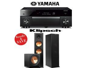 Yamaha RX-A1060BL AVENTAGE 7.2-Channel Dolby Atmos Network A/V Receiver + Klipsch RP-280F + Klipsch R-112SW - 2.1 Reference Premiere Home Theater Package