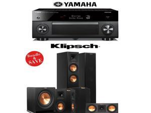 Klipsch RP-250F 5.1 Reference Premiere Home Theater System with Yamaha RX-A2060BL 9.2-Ch A/V Receiver