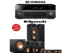Klipsch RP-260F 5.1 Reference Premiere Home Theater System with Yamaha RX-A2060BL 9.2-Ch A/V Receiver