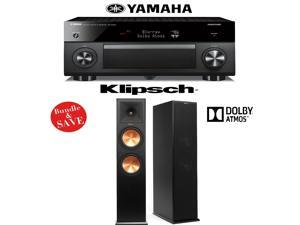 Yamaha RX-A2060BL AVENTAGE 9.2-Channel Network A/V Receiver + (1) Pair of Klipsch RP-280FA Dolby Atmos Floorstanding Loudspeakers - Bundle