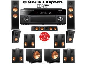 Klipsch RP-280FA 7.2.2 Dolby Atmos Home Theater System with Yamaha AVENTAGE RX-A2060BL 9.2-Ch A/V Receiver