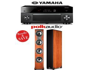 Yamaha RX-A3060BL AVENTAGE 11.2-Channel Network A/V Receiver + (1) Pair of Polk Audio TSi 500 Floorstanding Loudspeakers (Cherry) - Bundle