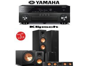 Yamaha AVENTAGE RX-A860BL 7.2 Channel Network AV Receiver + Klipsch RP-260F _ Klipsch RP-160M + Klipsch RP-440C + Klipsch R-112SW - 5.1 Reference Premiere Home Theater Package