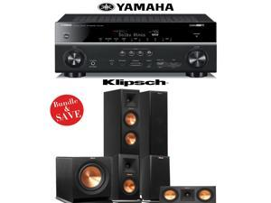Klipsch RP-250F 5.1 Reference Premiere Home Theater System with Yamaha RX-V781BL 7.2-Channel Network A/V Receiver