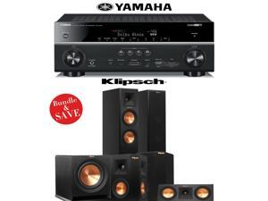 Klipsch RP-250F 5.1 Home Theater Speaker System with Yamaha RX-V781BL 7.2-Ch Network A/V Receiver