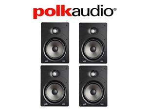 Polk Audio V85 High Performance Vanishing In-Wall Loudspeakers (4 Pack)