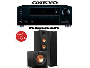 Onkyo TX-RZ610 7.2-Channel Network A/V Receiver + Klipsch RP-250F + Klipsch R-110SW - 2.1 Home Theater Package