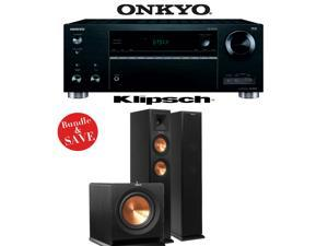 Onkyo TX-RZ610 7.2-Channel Network A/V Receiver + Klipsch RP-260F + Klipsch R-112SW - 2.1 Reference Premiere Home Theater Package
