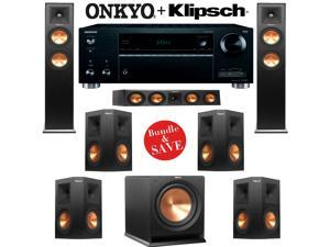 Klipsch RP-260F 7.1 Reference Premiere Home Theater System with Onkyo TX-RZ610 7.2-Ch Network A/V Receiver