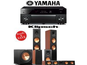 Klipsch RP-280F 5.1 Reference Premiere Home Theater System (Cherry) with Yamaha RX-A1060BL AVENTAGE 7.2-Ch Network A/V Receiver