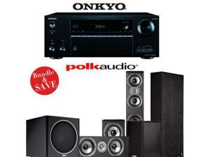 Onkyo TX-NR656 7.2 Channel Network A/V Receiver + Polk Audio TSi 400 + Polk Audio TSi 200 + Polk Audio CS10 + Polk Audio PSW110 - 5.1 Home Theater Package
