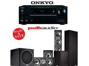 Onkyo TX-NR656 7.2 Channel Network A/V Receiver + Polk Audio TSi 500 + Polk Audio TSi 200 + Polk Audio CS10 + Polk Audio PSW110 - 5.1 Home Theater Package