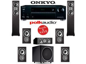Polk Audio TSi 300 7.1 Home Theater System with Onkyo TX-RZ610 7.2-Ch Network A/V Receiver