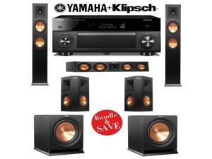 Klipsch RP-260F 5.2 Reference Premiere Home Theater System with Yamaha AVENTAGE RX-A3060BL 11.2-Ch Network A/V Receiver