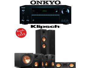 Klipsch RP-250F 5.1 Reference Premiere Home Theater System with Onkyo TX-NR656 7.2-Ch Network AV Receiver