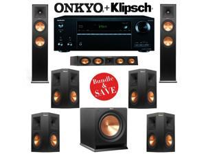 Klipsch RP-260F 7.1 Reference Premiere Home Theater System with Onkyo TX-NR656 7.2-Ch Network A/V Receiver