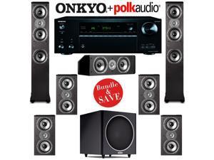 Polk Audio TSi 400 7.1 Home Theater Speaker System with Onkyo TX-NR757 7.2-Ch Network AV Receiver