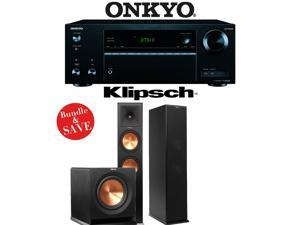 Klipsch RP-280F 2.1 Reference Premiere Home Theater System with Onkyo TX-NR555 7.2-Ch Network AV Receiver