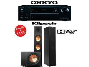 Klipsch Reference Premiere RP-280FA 2.1 Dolby Atmos Home Theater System with Onkyo TX-NR555 7.2-Ch Network AV Receiver