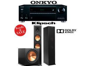 Onkyo TX-RZ610 7.2-Channel Network A/V Receiver + Klipsch RP-280FA + Klipsch R-115SW - 2.1 Reference