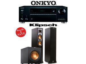Onkyo TX-RZ610 7.2-Channel Network A/V Receiver + Klipsch R-26F + Klipsch R-12SW - 2.1 Reference Home Theater Package