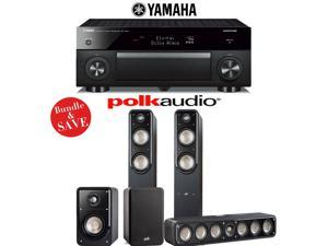 Yamaha RX-A1060BL AVENTAGE 7.2-Channel Dolby Atmos Network A/V Receiver + Polk Audio S55 + Polk Audio S35 + Polk Audio S15 - 5.0 Home Theater Package