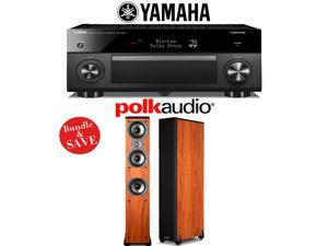 Yamaha RX-A2060BL AVENTAGE 9.2-Channel Network A/V Receiver + (1) Pair of Polk Audio TSi 400 Floorstanding Loudspeakers (Cherry) - Bundle