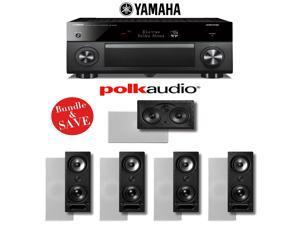 Yamaha RX-A3060BL AVENTAGE 11.2-Channel Network A/V Receiver + Polk Audio 265-LS + Polk Audio 255C-LS - 5.0 In-Wall Home Theater System