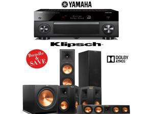 Klipsch RP-280FA 5.1 Dolby Atmos Home Theater System with Yamaha RX-A3060BL 11.2-Ch Network A/V Receiver