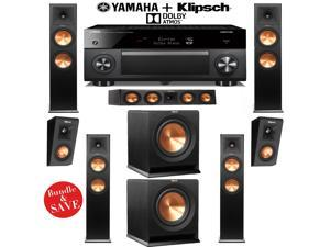 Klipsch RP-280FA 5.2.2 Dolby Atmos Home Theater System with Yamaha RX-A3060BL 11.2-Ch Network A/V Receiver