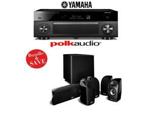Yamaha RX-A3060BL AVENTAGE 11.2-Channel Network A/V Receiver + A Polk Audio TL1600 5.1 Home Theater Speaker System
