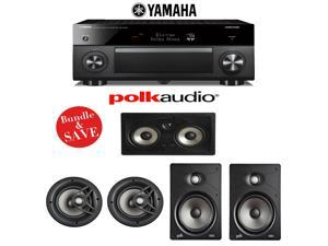 Yamaha RX-A3060BL AVENTAGE 11.2-Channel Network A/V Receiver + Polk Audio V80 + Polk Audio V85 + Polk Audio 255C-RT - 5.0 In-Wall / In-Ceiling Home Speaker Package