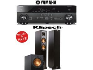 Yamaha AVENTAGE RX-A760BL 7.2-Channel Network A/V Receiver + Klipsch R-26F + Klipsch R-12SW - 2.1 Reference Home Theater Package