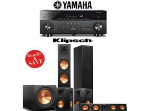 Klipsch RP-280F 5.1 Reference Premiere Home Theater System with Yamaha RX-A760BL 7.2-Ch Network A/V Receiver