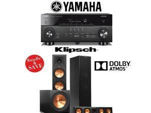 Klipsch Reference Premiere RP-280FA Dolby Atmos 3.1 Home Theater Package with Yamaha RX-A760BL A/V Receiver