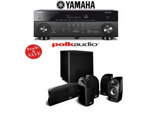 Yamaha AVENTAGE RX-A760BL 7.2-Channel Network A/V Receiver + A Polk Audio TL1600 5.1 Home Theater Speaker System