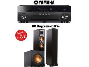 Yamaha AVENTAGE RX-A860BL 7.2 Channel Network AV Receiver + Klipsch R-26F + Klipsch R-12SW - 2.1 Reference Home Theater Package