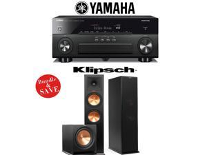 Yamaha AVENTAGE RX-A860BL 7.2 Channel Network AV Receiver + Klipsch RP-280F + Klipsch R-112SW - 2.1 Reference Premiere Home Theater Package