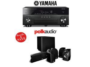 Yamaha AVENTAGE RX-A860BL 7.2 Channel Network AV Receiver + Polk Audio TL1600 5.1 Home Theater Speaker Package