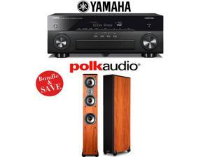 Yamaha AVENTAGE RX-A860BL 7.2 Channel Network AV Receiver + (1) Pair of Polk Audio TSi 400 Floorstanding Loudspeakers (Cherry)