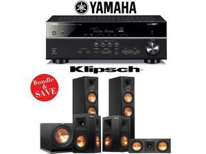 Klipsch RP-260F Reference Premiere 5.1 Home Theater System with Yamaha RX-V581BL 7.2-Ch A/V Receiver