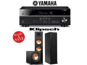 Yamaha RX-V581BL 7.2-Channel Network A/V Receiver + Klipsch RP-280F + Klipsch R-112SW - 2.1 Reference Premiere Home Theater Package